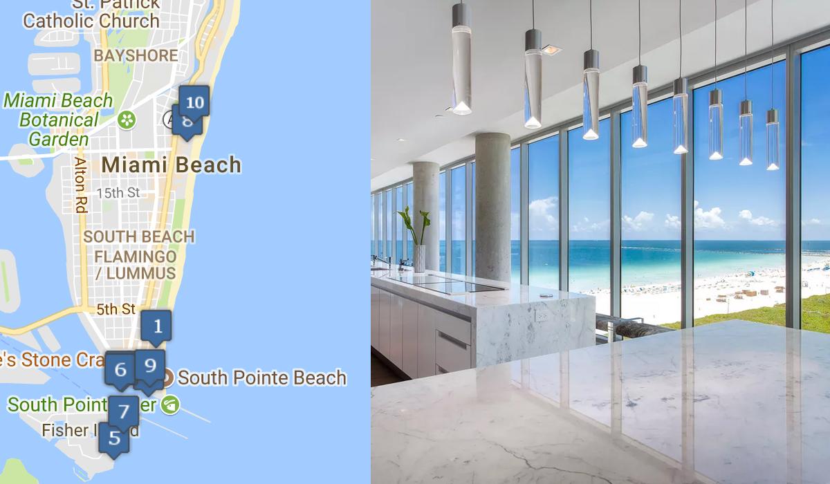 Top 10 Miami Beach Condo Sales, through Q2 2018 - hedge fund